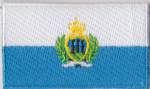 San Marino Embroidered Flag Patch, style 04